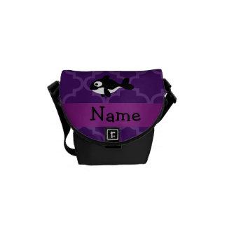 Marroquí púrpura personalizado de la ballena bolsa de mensajeria