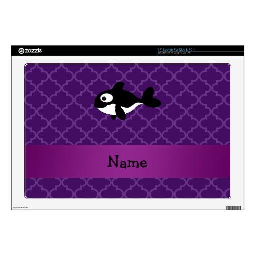 Marroquí púrpura personalizado de la ballena conoc skins para portátil