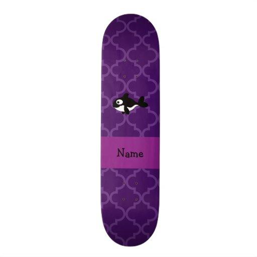Marroquí púrpura personalizado de la ballena conoc patineta personalizada