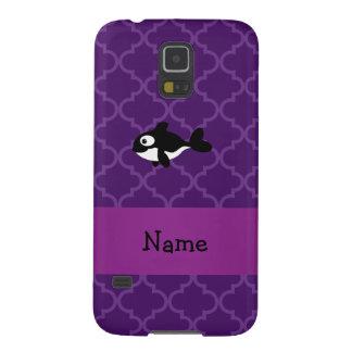 Marroquí púrpura personalizado de la ballena funda de galaxy s5