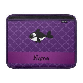 Marroquí púrpura personalizado de la ballena funda para macbook air