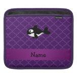 Marroquí púrpura personalizado de la ballena mangas de iPad