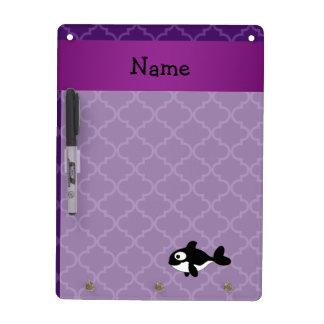 Marroquí púrpura personalizado de la ballena pizarras