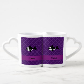 Marroquí púrpura personalizado de la ballena taza amorosa