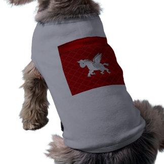 Marroquí rojo conocido personalizado de Pegaso Playera Sin Mangas Para Perro