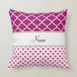 Marroquí rosado conocido personalizado del magneta almohadas