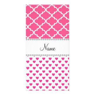 Marroquí rosado conocido personalizado del rosa de tarjetas fotograficas personalizadas
