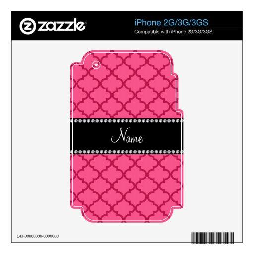 Marroquí rosado conocido personalizado calcomanía para el iPhone 3