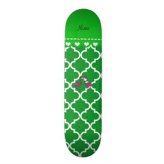 Marroquí verde conocido de encargo del flamenco skate board