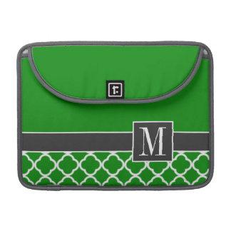 Marroquí verde elegante Quatrefoil Fundas Para Macbooks