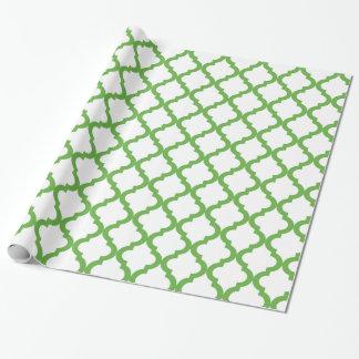 Marroquí verde y blanco Quatrefoil del día de