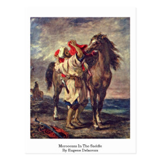 Marroquíes en la silla de montar de Eugene Delacro Tarjetas Postales