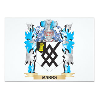Marrs Coat of Arms - Family Crest 5x7 Paper Invitation Card