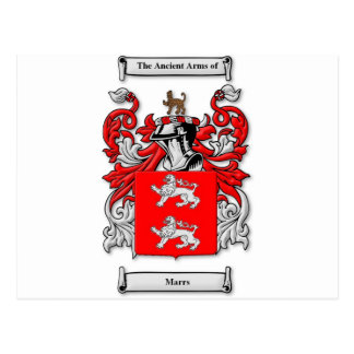 Marrs Coat of Arms Post Card
