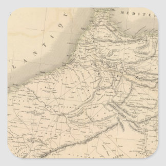 Marruecos 3 pegatina cuadrada
