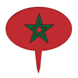Marruecos - bandera marroquí decoraciones de tartas