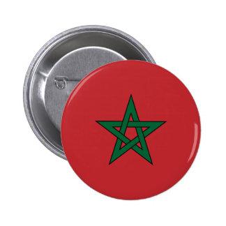 Marruecos - bandera marroquí pin redondo 5 cm