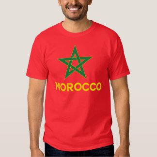 Marruecos - bandera marroquí playeras