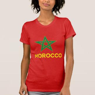Marruecos - bandera marroquí poleras