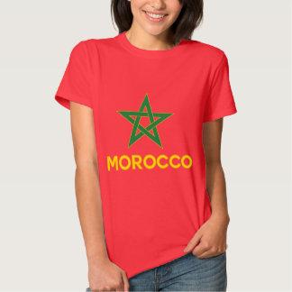 Marruecos - bandera marroquí remera