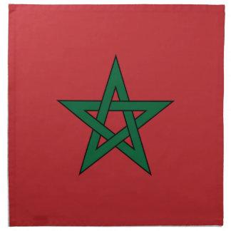 Marruecos - bandera marroquí servilletas de papel