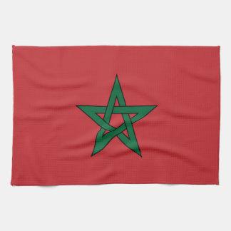 Marruecos - bandera marroquí toalla