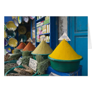 MARRUECOS, costa atlántica, ESSAOUIRA: Mercado de  Felicitaciones