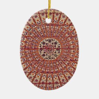 Marruecos elegante y elegante Patern Adorno Navideño Ovalado De Cerámica