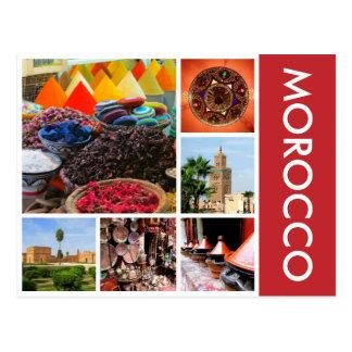 Marruecos escénico postal