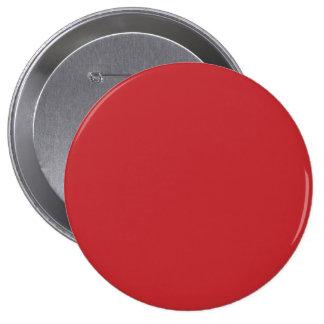 Marruecos   rojo, Marruecos Pin Redondo De 4 Pulgadas