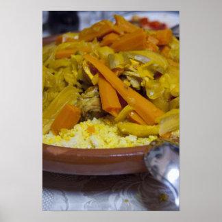 Marruecos Tetouan Comida marroquí tradicional de Impresiones