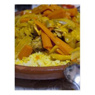 Marruecos, Tetouan. Comida marroquí tradicional de Tarjeta Postal