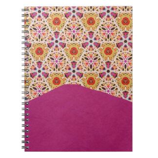 Marruecos y cuaderno fucsia de la textura por KCS