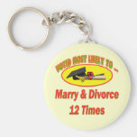 Marry And Divorce Basic Round Button Keychain