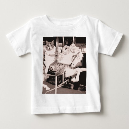 Marry Cat Go Round Baby T-Shirt