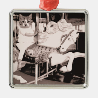 Marry Cat Go Round Metal Ornament