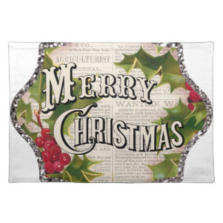 marry christmas cloth placemat