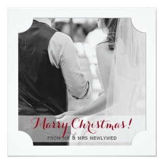 Marry Christmas from Newlyweds Holiday Photo Card