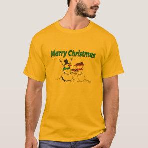 Marry Christmas Snowman Tee