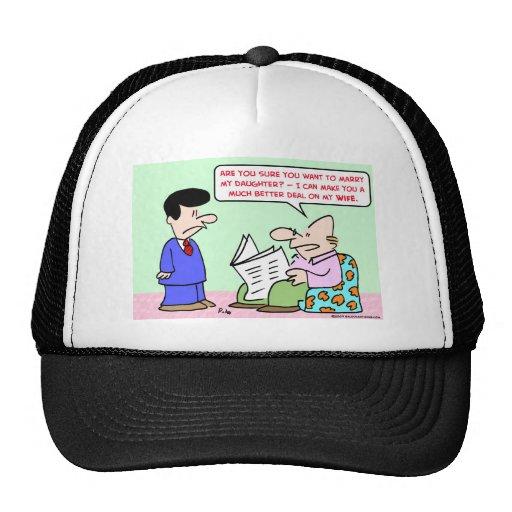 marry daugher wife deal mesh hats