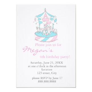 Marry-go-round - Child  Birthday Invitation