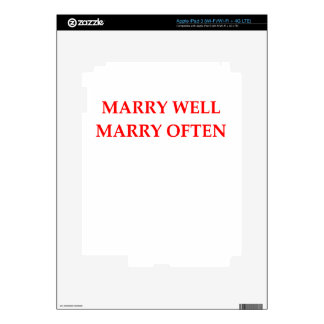 MARRY iPad 3 DECAL