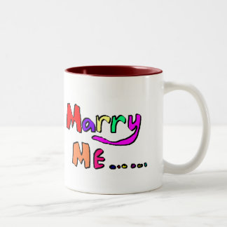 marry me #2 Two-Tone coffee mug