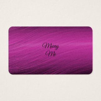 Marry Me Business Card