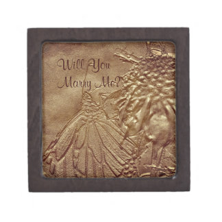 Marry Me Butterfly Engagement Ring Gift Box