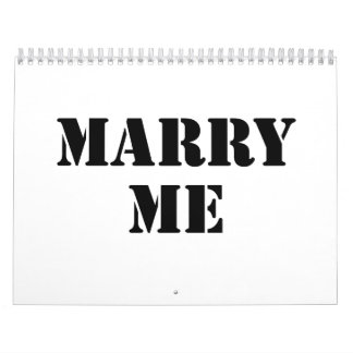 Marry Me Calendar
