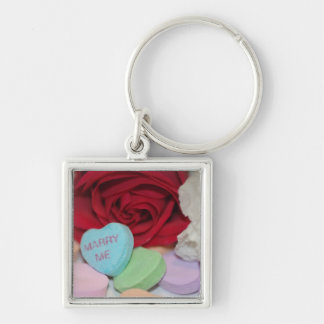 """Marry Me"" Candy Heart Key Chain"