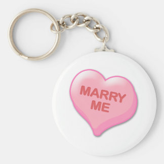 Marry Me Candy Heart Keychain