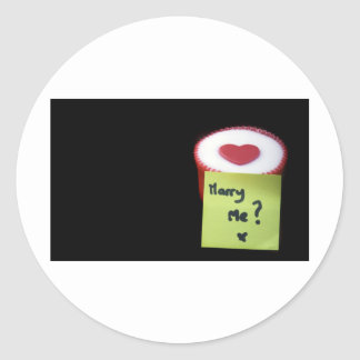 Marry Me Classic Round Sticker