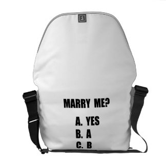 Marry Me Courier Bag